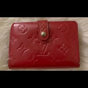 👛 LV Pink Vernis viennois kiss lick wallet
